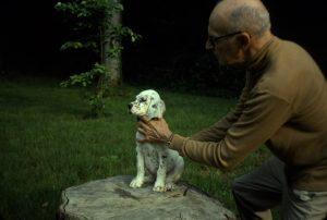 George Bird Evans with a puppy (1976)