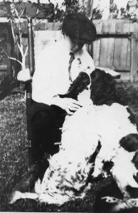 Boy, George Bird Evans, with two of his father's setters.